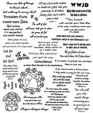 Unmounted Rubber Stamps Sheets, Bible Verses, Humor, Christian Sayings & Quotes