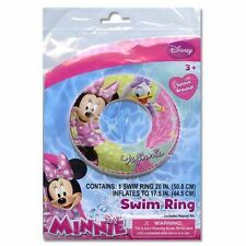 "Disney Minnie Mouse Bowtique Kids Girls 20"" Swim Ring Tube Pool Floats NEW 3+"
