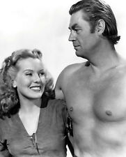 Johnny Weissmuller and Brenda Joyce photo - B3071 - Tarzan and the Leopard Woman