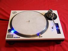 Custom White Technics 1200 MK2 turntable - blue LED's