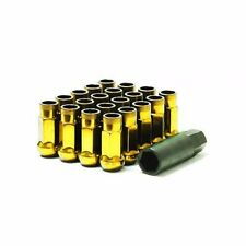 Muteki SR48 Open End Lug Nuts in Yellow Chrome 12x1.50 | 32906Z