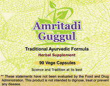 Amritadi Guggulu (Water Retention & Uric Acid) 90 Vege Capsules, 1 gm each