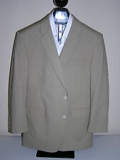 $350 New Jos A Bank Poplin 2 button suit Tan 43 L 37 W flat front regular fit