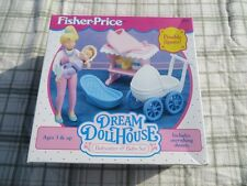 1994 Fisher Price Dream Doll House  Babysitter and Baby Set
