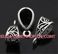 P172 12pcs Tibetan Silver Charms Pendant Hanger Bails Necklace Connector
