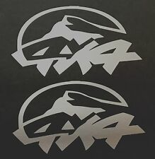 2 SILVER 4X4 OFF ROAD DECALS STICKER 4WD TRUCK FORD CHEVY DODGE TOYOTA GMC LOGO