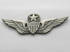 US ARMY AVIATION MASTER AVIATOR WINGS LAPEL PIN BADGE 2.5 INCHES