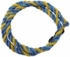 Pinnacle Sports Triad Titanium Triple Necklace, Columbia Blue/Gold, 18-Inch