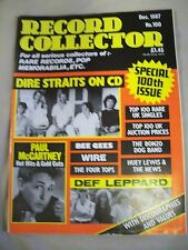 Record Collector Magazine. Issue no. 100. December 1987. Dire Straits, Bee Gees