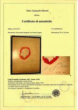 Certificato fotografico di autenticità di documenti autografi ( COA )