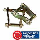NEW REAR GREASABLE SWINGING SHACKLE KIT FORD RANGER PX 4X2 W/- LOW RIDE CHASSIS