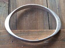 Vtg Modernist Bracelet Norway Signed Tone Vigeland Sterling Silver Hammered
