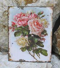 Señal De Chapa Letrero Metal Cartel Pared Rosa Salvaje Cocina Mural