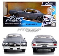 JADA 1:24 FAST AND FURIOUS  DOM'S CHEVY CHEVELLE SS  DIE-CAST GRAY 97835