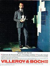 PUBLICITE ADVERTISING 026  1963  Villeroy & Boch cristal vaisselle céramique san