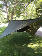 Hammock w/bug netting, rainfly & tree straps, Complete System, Backpacking GREEN