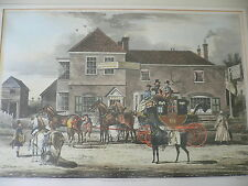 James Pollard. The Mail Coach Changing Horses. Engraving by C. Reeves. 1825.