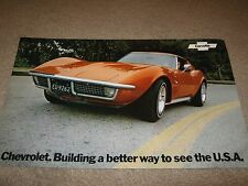 1972 Chevrolet Corvette Dealer Sales-Showroom Brochure, Stingray