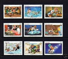 GRENADA - 1987 - DISNEY - PINOCCHIO - FAIRY TALES - MINT - MNH SET OF 9!