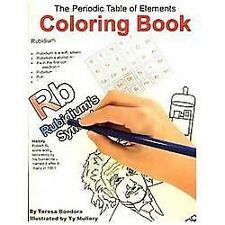 The Periodic Table of Elements Coloring Book by Teresa Bondora (2011, Paperback)