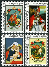 Luxembourg B328-B331, MI 1018-1021, MNH. Caritas. Behind-glass Paintings, 1980