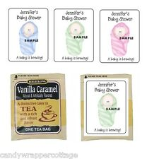30 Cute Baby Bundle Shower Personalized Tea Bag Labels or Coffee Party Favors