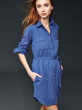 Gap Women's Docksider Blue Embroidered Shirtdress Size XXL