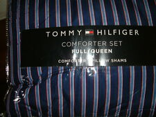TOMMY HILFIGER CHRISTOPHER  STRIPE  FULL QUEEN  COMFORTER SHAMS STANDARD