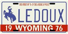 Chris Ledoux Wyoming Cowboy 1976 License plate