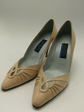 Palizzio vintage peach 80s Size 6.5M leather Spain Women Heels Pumps excellent
