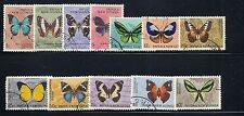 PAPUA NEW GUINEA  1966 BUTTERFLIES definitives complete VF USED
