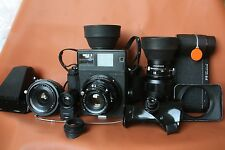 "MAMIYA PRESS SUPER 23 Black,set with 3 lenses and accesories.""vintage"
