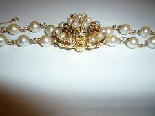 VINTAGE Honora 14K yellow solid GOLD PEARL LADIES Bracelet Watch Working 17jewel
