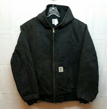Carhartt JR105 Duck Canvas Thermal Lined Mens Jacket XL Worn Torn Faded   - D43