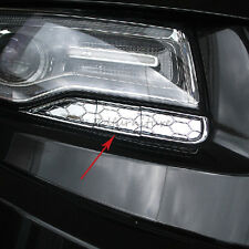 For Jeep Grand Cherokee 2014 2015 2016 Chrome Front Headlights Spray Cover Trim
