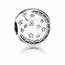 Authentic Pandora Sterling Silver Twinkling Night Clip Charm 791386CZ