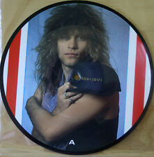 "EX/EX! BON JOVI LIVING ON A PRAYER 7"" VINYL 45 PICTURE DISC"