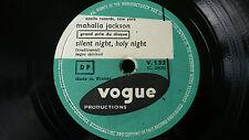 """10215# Mahalia Jackson Get Away Jordan/ Silent Night, Holy Night 78er 10"""" TOP"""