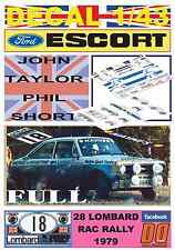 DECAL 1/43 FORD ESCORT RS 1800 MK II J.TAYLOR RAC 1979 6th (FULL) (04)