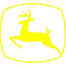 "4"" John Deere Vinyl Decal Window Farming Tractor Outdoors Yellow"