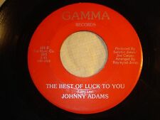 "JOHNNY ADAMS ""Sharing You / Best of Luck to You"" on GAMMA 101 Strong VG+"