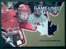 GINA KINGSBURY  06/07 AUTHENTIC 2-COLOR PIECE OF A GAME-USED JERSEY