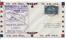 December 6 1931 Ffc First Flight Cover - Nue 00004000 vitas Camaguey Miami to Us*