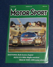 Motor Sport March 1989 Fiat X1/9, Bell wins Daytona 24hours, Audi Coupe