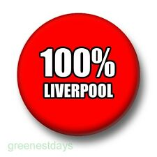 100% Liverpool 1 Inch / 25mm Pin Button Badge Football Reds Soccer Kop Red White