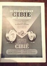 ANCIENNE Pub Presse PROJECTEUR CIBIE