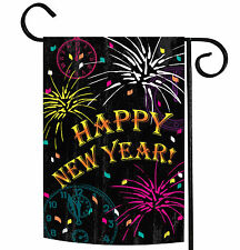 NEW Toland - New Year Celebration -  Colorful Happy Fireworks Garden Flag