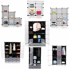 Interlocking 6 Compartments Cube Organizer Plastic Storage Shoe Rack Display New