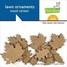 NEW LAWN FAWN SWEATER WEATHER LAWN ORNAMENTS WOOD VENEER LEAVES