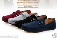 New Men's Suede Casual Lace Slip On Loafer Shoes Moccasins Driving Shoes